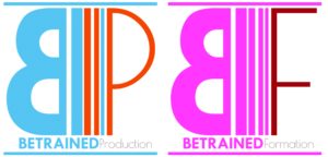 logo de betrained formation et production photo et video