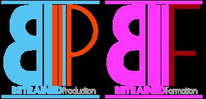 logo de betrained formation et production photo et video